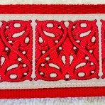 2ML850 Intricate Red Maze Martingale Lead