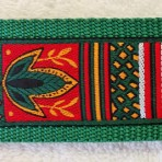 2ML855 Green and Red Harvest Shapes Martingale Lead