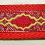 2LMC856 Gold Frames on Red Martingale Collar