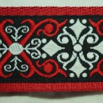 2LMC860 Red and White Kaleidoscope Martingale Collar