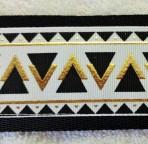 SLIP863 Embossed Black and Gold Traditional Slip Lead
