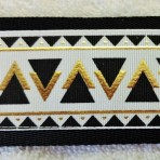 2LMC863 Embossed Black and Gold Large Breed Martingale Collar