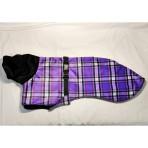 C3068 Purple Plaid Minky Whippet Coat